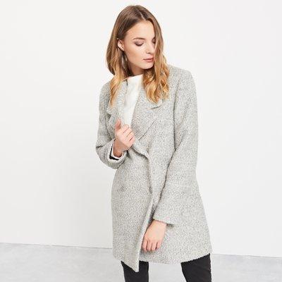 MISHIANA 歐洲品牌 RESERVED 女生款厚實羊毛呢中長款排扣保暖外套 (  質感極佳.特價出售 )