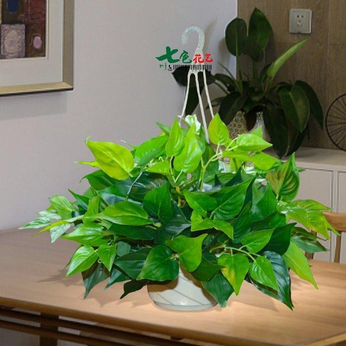 壁掛假花仿真綠蘿客廳室內裝飾垂吊綠植物塑料吊蘭假盆栽吊籃套裝綠植牆仿真植物摆件牆裝飾客廳室内仿真植物盆栽