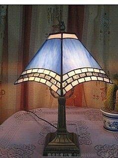 廠家直銷歐式蒂凡尼燈飾地中海辦公臺燈 歐美彩色玻璃 19