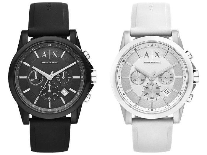 A X Armani Exchange 44mm 矽膠錶帶 中性錶 我愛麋鹿 東區正品專賣店