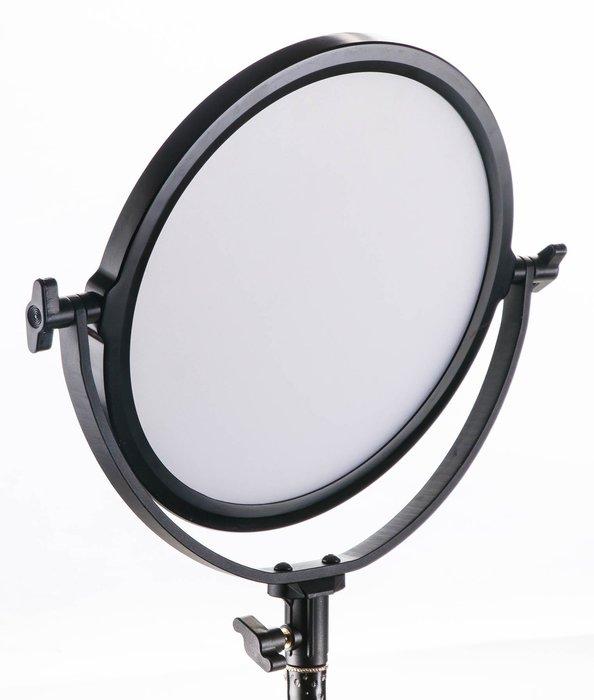 呈現攝影-LATOUR OLED-260 魔鏡燈 圓型 內建柔光板 雙電池座 5600K色溫 外拍燈 攝影燈 活動