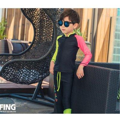 泳裝 泳衣 比基尼 分體 連身 韓國兒童游泳衣男童分體長袖防曬速干小童中大童嬰兒男孩寶寶泳裝