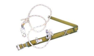 WIN 五金 高空作業防墜設備 柱上 桿上安全帶 雙重保險中勾一般型安全帶