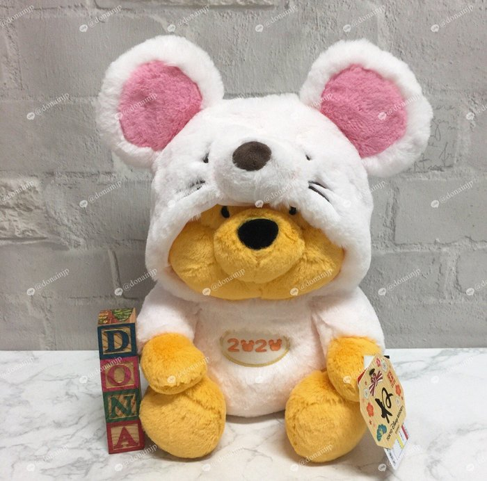 【Dona日貨】日本迪士尼樂園限定 2020年小熊維尼鼠年老鼠連身造型(L號) 娃娃/玩偶/公仔/擺飾 F46