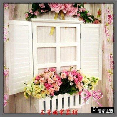 【王哥】新款窗戶 假窗 裝潢 裝飾窗 窗台 百葉窗 花台 花盆 花架 窗台 室內設計 民宿 店面佈置 拍攝道具WG-15721572