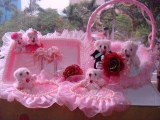 ~氣球 廣場~租借出租浪漫 甜蜜愛戀粉紅結婚 6件喜糖盤 婚宴簽名筆 謝卡盤 喜糖籃~套組