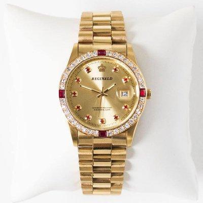 [ YAV ] 美國 The Gifted Few 台灣授權經銷店  Monarch CZ石 14K 金手錶
