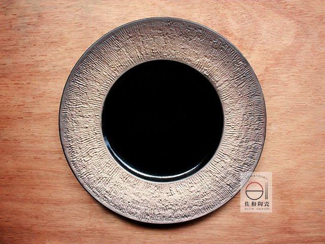 +佐和陶瓷餐具批發+【XL070913-21天目陽紋11吋圓皿-日本製】日本製 圓盤 宴客盤 皿 11吋盤 餐具 和食器
