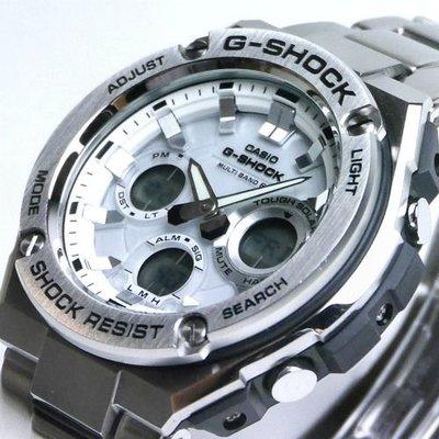 CASIO G-SHOCK GST G-STEEL series GST-W110D GST-W110D-7A 電波受信 TOUGH SOLAR 鋼帶 白面