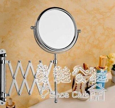 『格倫雅品』潔諾浴室化妝雙面壁掛折疊伸縮全銅梳妝美容鏡