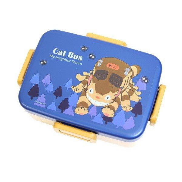 日本製 TOTORO 龍貓 貓公車 樂扣蓋 保鮮盒 便當盒650ML 水果盒 326967 奶爸商城 通販