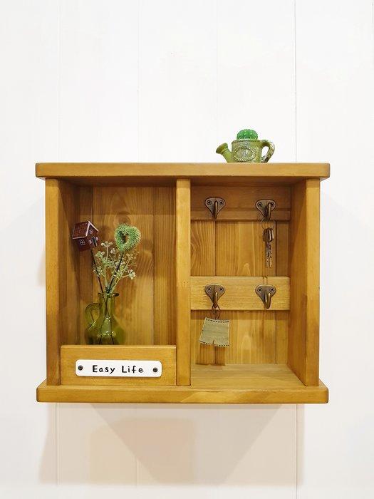 鑰匙盒,信件收納,盆栽~~**樂在幸福**~A169~實木鑰匙 信件,盆栽收納