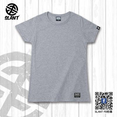 SLANT 女版T恤 輕薄款 素面T恤 短袖T恤 百搭潮牌品質 100%純棉T 腰身版型 斜袖 8色可選 輕薄不悶熱