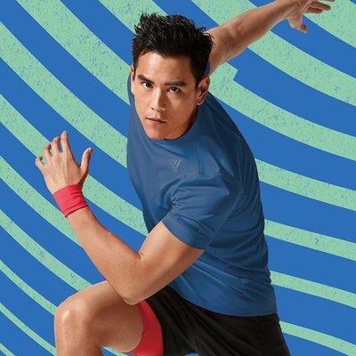 =E.P=ADIDAS CLIMACHILL 吸濕排汗 慢跑 健身 短袖T恤 深藍色 男款 EI6391