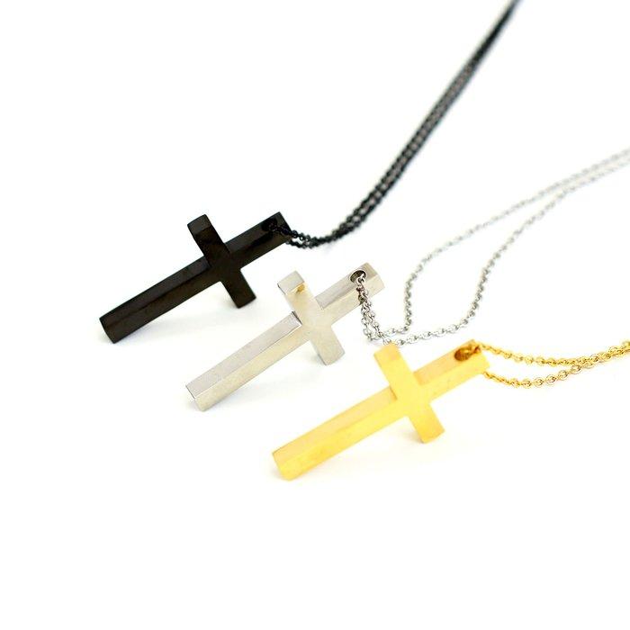--- X 10 ---鈦鋼 金屬 十字架項鍊 抗過敏 嘻哈 金項鍊 中國有說唱 吳亦凡 不銹鋼 合金