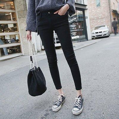 BGM 熱銷黑褲王超彈力黑色牛仔褲鉛筆褲合身小腳褲 0227-900G
