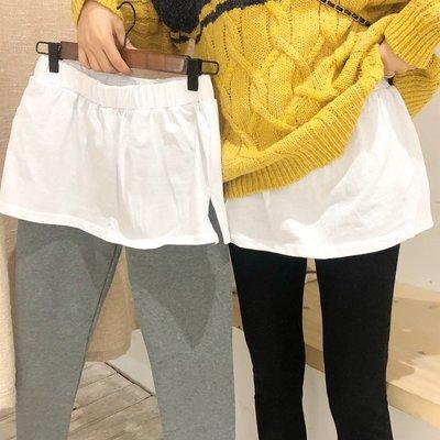 春裝韓版高腰假兩件加厚緊身顯瘦打底褲外...