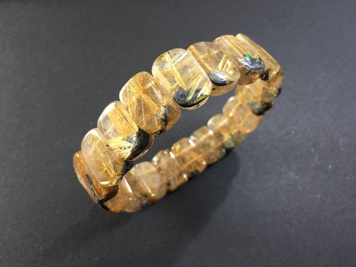 能量珠寶水晶之王-髮絲鈦晶手排-46g特價商品