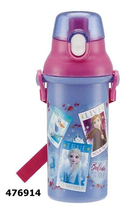 日本製 冰雪奇緣 476914 直飲式水壺480ml日本正版 通販 同系列水壺4款合購免運