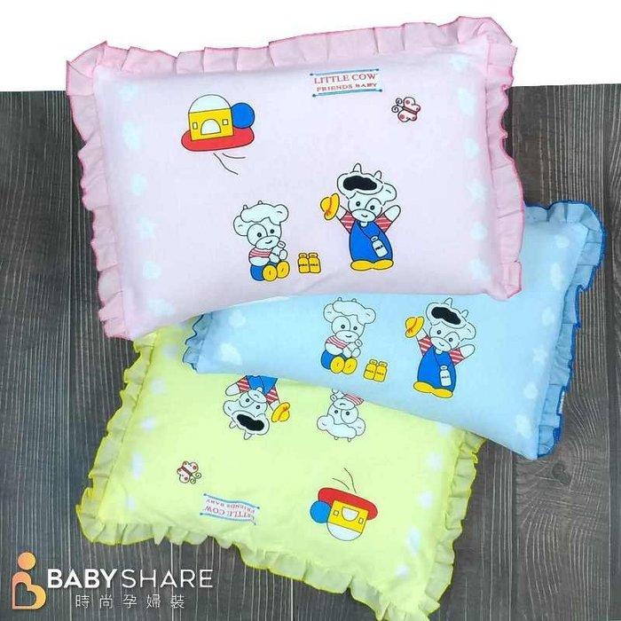 滿額免運【COWA208】台灣製 動物圖案花邊寶寶枕 可拆洗式信封枕套 新生兒必備 枕頭