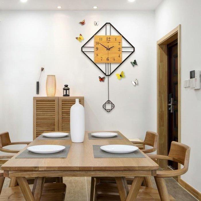麥麥部落 掛鐘創意時鐘北歐現代簡約式式大氣鐘錶百搭裝飾餐廳田園靜音MB9D8