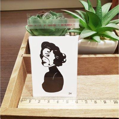 【萌古屋】百態人24單圖 - 男女防水紋身貼紙刺青貼紙 K43