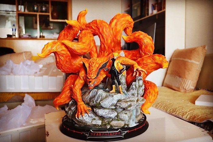 【預購】GK定制,天幕火影忍者手辦模型,九尾鳴人g,漩渦鳴人雕像 高72CM