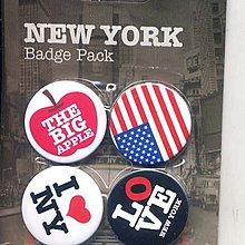 全新 英國進口 別針組合 A4 NEW YORK AMERICAN BIG APPLE USA