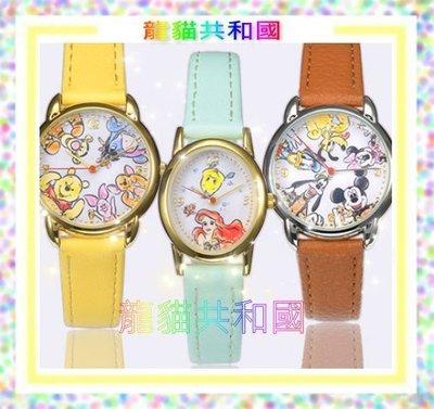 日本東京迪士尼Disney《小美人魚艾莉兒_米奇米妮_愛麗絲夢遊仙境手錶》男女通用【日本正版】生日情人聖誕節禮物