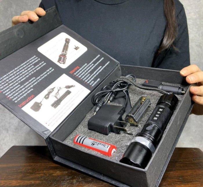 精選警用強光手電筒 可充電 車充 堅固耐用 戶外便攜 維修探照 夜間巡邏 深夜探險 玉石鑑定