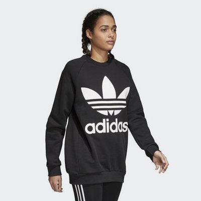 adidas Originals OVERSIZED SWEAT CY4755 黑色 落肩款 女生