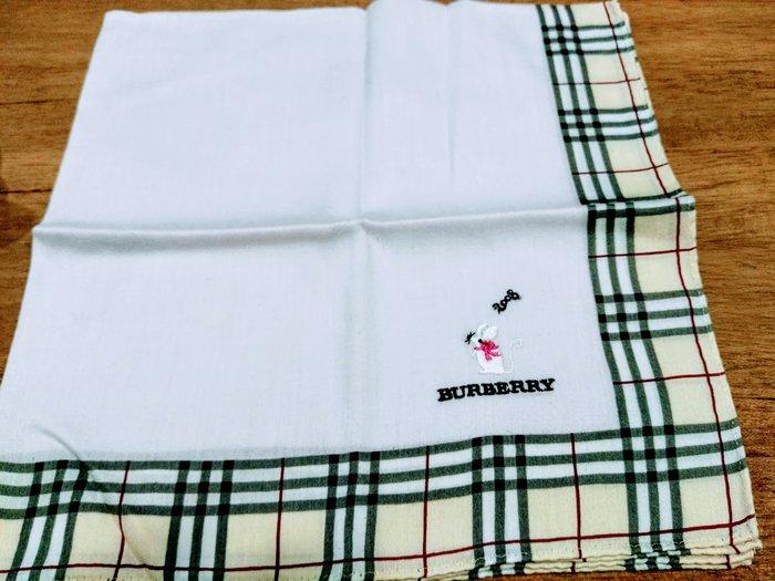 【絕版品+限定版】BURBERRY 2008鼠年 時尚仕女優雅限定款手帕情人節首選禮物