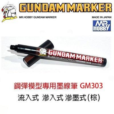 【eYe模型】MR.HOBBY 郡氏 GSI 鋼彈麥克筆 GUNDAM MARKER 塑膠模型 滲墨式 墨線筆GM303