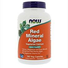 【美國原裝預購】Now 紅藻鈣 Red Mineral Algae 180顆