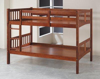 【南洋風休閒傢俱】精選時尚床 雙層床 木頭床 上下床 兒童床 -樟木色雅典3.5尺雙層床 CY132