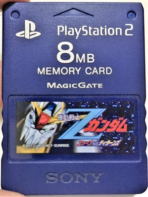 幸運小兔 PS2遊戲 PS2 機動戰士Z 鋼彈 幽谷VS迪坦斯 SONY記憶卡 PS2記憶卡 PS2儲存卡