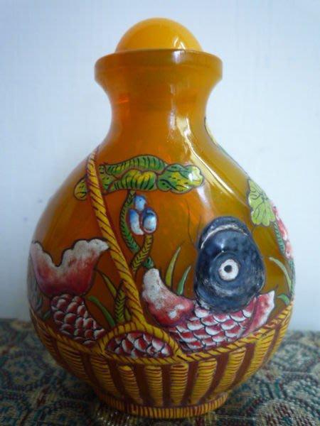 [ 廣緣 ] 雍正年製款  琉璃琺瑯彩鼻煙壺   可議價