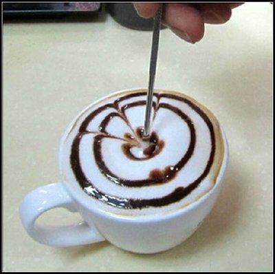 不鏽鋼咖啡拉花針 拉花棒 雕花棒 咖啡雕花針 義式拉花 勾花 花式咖啡~MJ的窩~