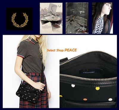FRED PERRY 英國【現貨】圓筒 斜背包 Barret Bag in Polka Dot