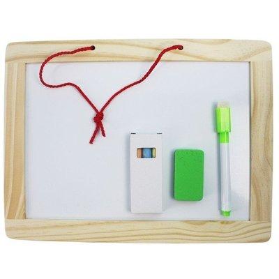 實木框 磁性小白板 小黑板 雙面205mm x 270mm/一袋10個入(促99) 磁性白板 黑白畫板-AA6714