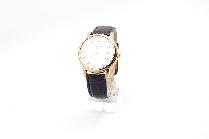 【台中青蘋果】天梭 Tissot Carson 玫瑰金經典羅馬80動力腕錶 T0854073601300 #28364