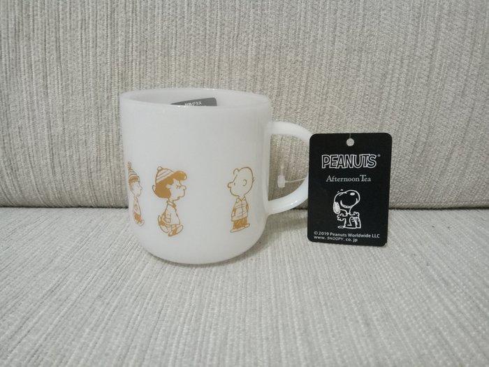 天使熊雜貨小舖~日本帶回史努比SNOOPY×Afternoon Tea 耐熱玻璃杯  全新現貨
