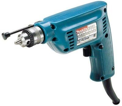 附發票Makita 牧田 6501 電動電鑽 6.5mm 2分電鑽.自動夾頭.輕巧單手.高速型【AA101】來電2500