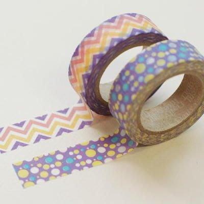 ❅PAVEE❅ 韓國DailyLike~ Masking Tape 優雅和風 裝飾紙膠帶~ Mystic 紫色迷幻