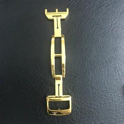 茵茵適配積家原裝表帶扣 14 16 18mm男女 皮表帶 蝴蝶扣 手表配件表扣