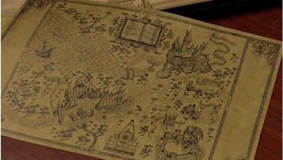 【貼貼屋】哈利波特Harry Potter 地圖 懷舊復古 牛皮紙海報 壁貼 店面裝飾 經典電影海報 365