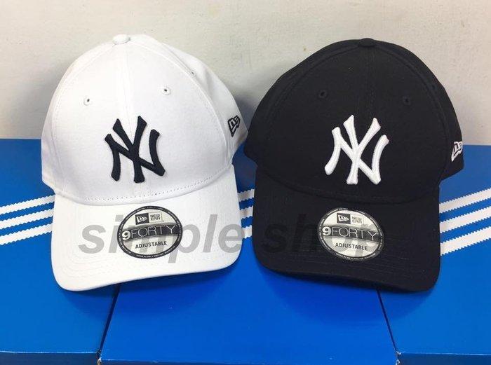 【Simple 】現貨 New Era 9Forty NY Adjustable Cap 洋基 復古 老帽 90s 彎帽