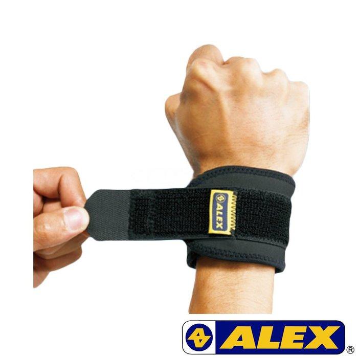 運動GO~ ALEX 護手腕 竹炭 調整型 護腕 束帶設計 透氣 台灣製造 羽毛球 健身 網球 高爾夫 台灣製 H-74