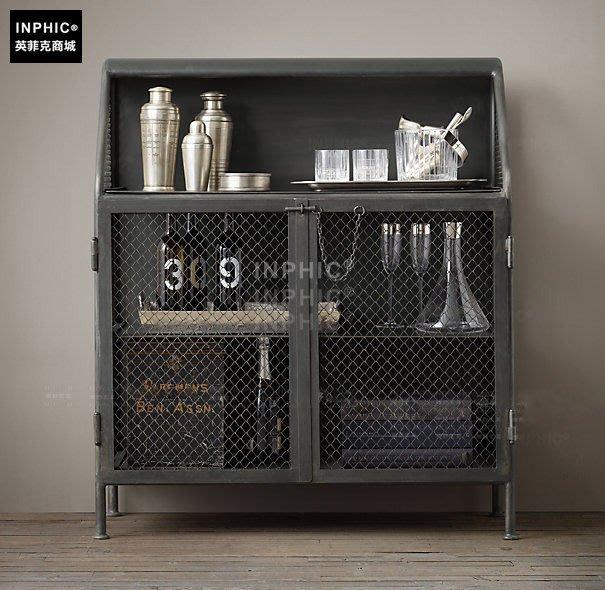 INPHIC-美式風格仿古鐵製展示架 置物架 酒櫃 陳列櫃_Y328
