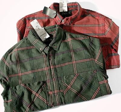 ☆MR.STORE.A☆日單工裝復古大雙口袋設計格子襯衫外套(二色)~現貨+預購